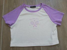 Sheinside T-Shirt white-lilac