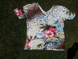 Top Shirt Imagini bunt Leopard Blume Dschungel