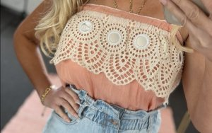 Kein Off-The-Shoulder Top nude-natural white