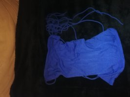 Haut dos-nu bleu coton