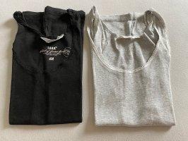 H&M Boatneck Shirt black-grey