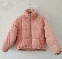 Topshop blush pink blogger puffer Jacket Eu 34