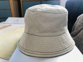 Topshop Bucket Hat cream cotton