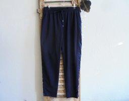 Topshop Pantalone a vita alta blu scuro-blu Poliestere