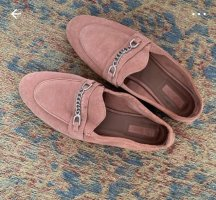 Topshop Loafer Leder Slipper Ballerinas Altrosa Blogger Fashion