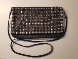 Topshop Nieten Clutch Handtasche aus Leder