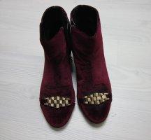 Topshop Samt Velvet Stiefeletten High Heels Boots Booties