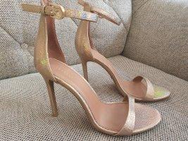 Topshop Sandalen neu gr. 38 high heels neu rosè gold Sandaletten metallic riemchensandalen