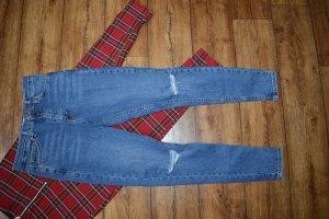 Topshop Skinny Jeans mit Cuts Gr. 34