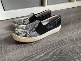 Topshop Slipper Slip on sneaker Turnschuhe schlangenoptik snake grau weiß schwarz