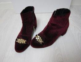 Topshop Stiefeletten Samt Velvet Boots Heels