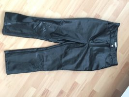 Topshop Leather Trousers black