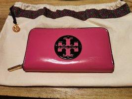Tory Burch Geldbörse /Portemonnaie Lack - Leder in Pink, mit Staubbeutel