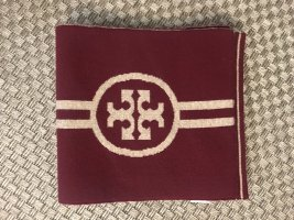 Tory Burch Schal Wendeschal Wolle dunkelrot bordeaux gestreift XL Wollschal Oversize