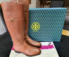 Tory Burch Riding Boots brown-cognac-coloured