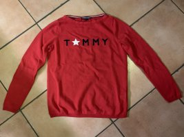 Totalausverkauf! Edler Strickpullover Tommy Hilfiger, rot, Gr. XS, top!