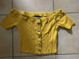 Sublevel Cropped Shirt gold orange-dark yellow