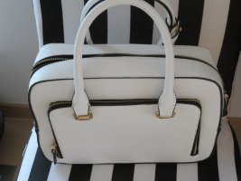 Tote weiss eckig Zara Woman Tasche Henkel