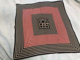 toteme Bufanda de seda negro-rojo neón