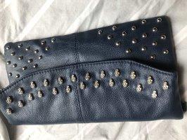Bolso de mano azul oscuro-azul acero