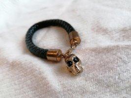Leather Bracelet black-gold-colored