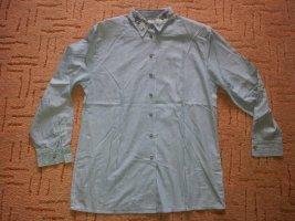 Trachten Bluse Hemd grün weiß Streifen Toni Dress Gr. 42 NEU