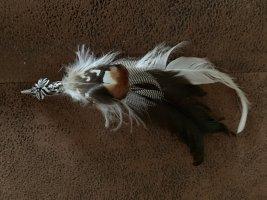 Trachtenfeder - Anstecknadel -Edelweiß