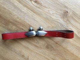 Waist Belt dark red-silver-colored