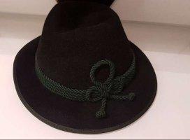 Hutmacher Zapf Tradycyjny kapelusz czarny-ciemnozielony