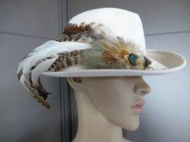 Folkloristische hoed licht beige