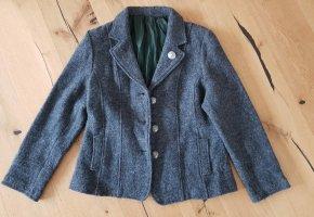 Trachtenjacke Grau Gr 38 Wolle - Top