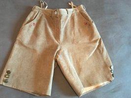 Distler Pantalone in pelle tradizionale marrone chiaro-beige