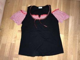 Blusa folclórica negro-rojo