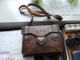 Traditional Bag dark brown leather