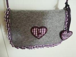 Trachtentasche / Dirndltasche L. Credi grau, lila