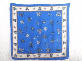 Traditional Scarf blue silk