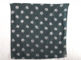 Traditional Scarf dark green cotton