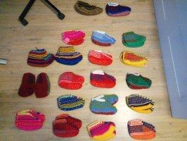 Botas de fieltro multicolor
