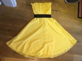 Trägerloses Cocktail-Kleid ~ gelb ~ Gr. 34/36