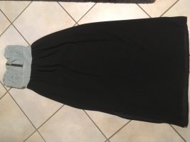Bandeaujurk korenblauw-zwart
