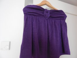 Backless Top blue violet polyester