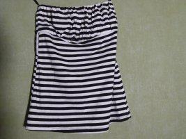 Zara Bandeau top wit-zwart