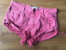 Trafaluc Zara Hot Pants 38 m rot Jeans Shorts kurz Shorty