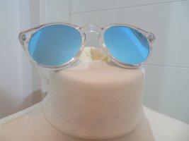 Zara Gafas de sol cuadradas blanco-color plata