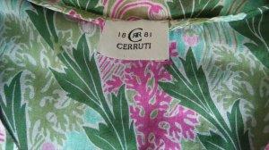 Transparentes Blusentop Cerruti 1881 grün/pink