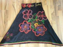 Traum Desigual Rock Bohi Hippie 36 S 34-36 xs-s Hand Made Feeling Herzen Blumen Flower Power