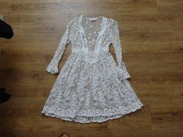Elisa Cavaletti Lace Dress white