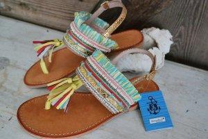 Traumhaft schöne Hippie Ibiza Zehentrenner-Sandalen * von Sommerkind * Gr.38