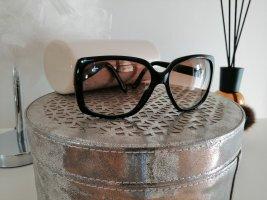 Jimmy Choo Gafas de sol cuadradas negro-color oro tejido mezclado