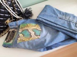 Philipp Plein Jeans slim bleu azur coton